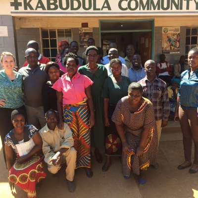 Catherine Dunlop and Participants outside Kabdula Hospital